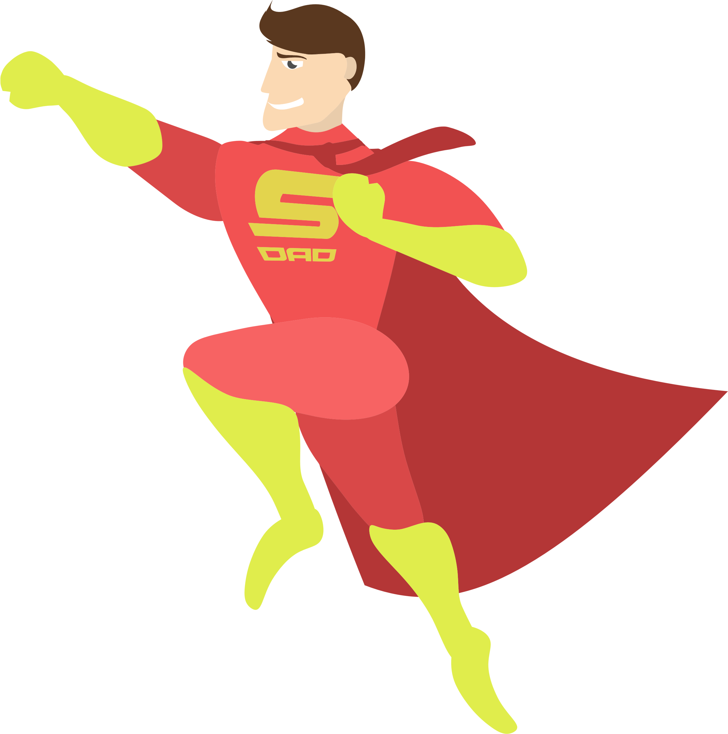Superdad big image png. Father clipart office clipart