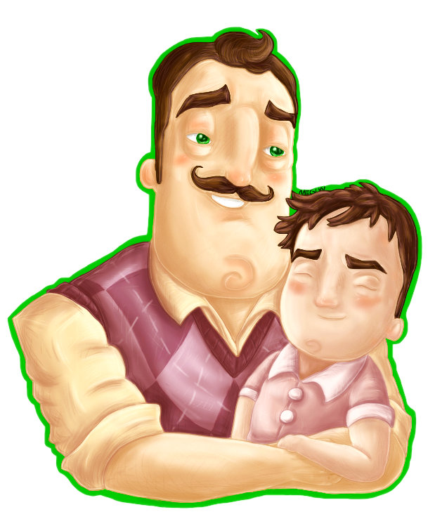 Father clipart poor father. Hello neighbor n son