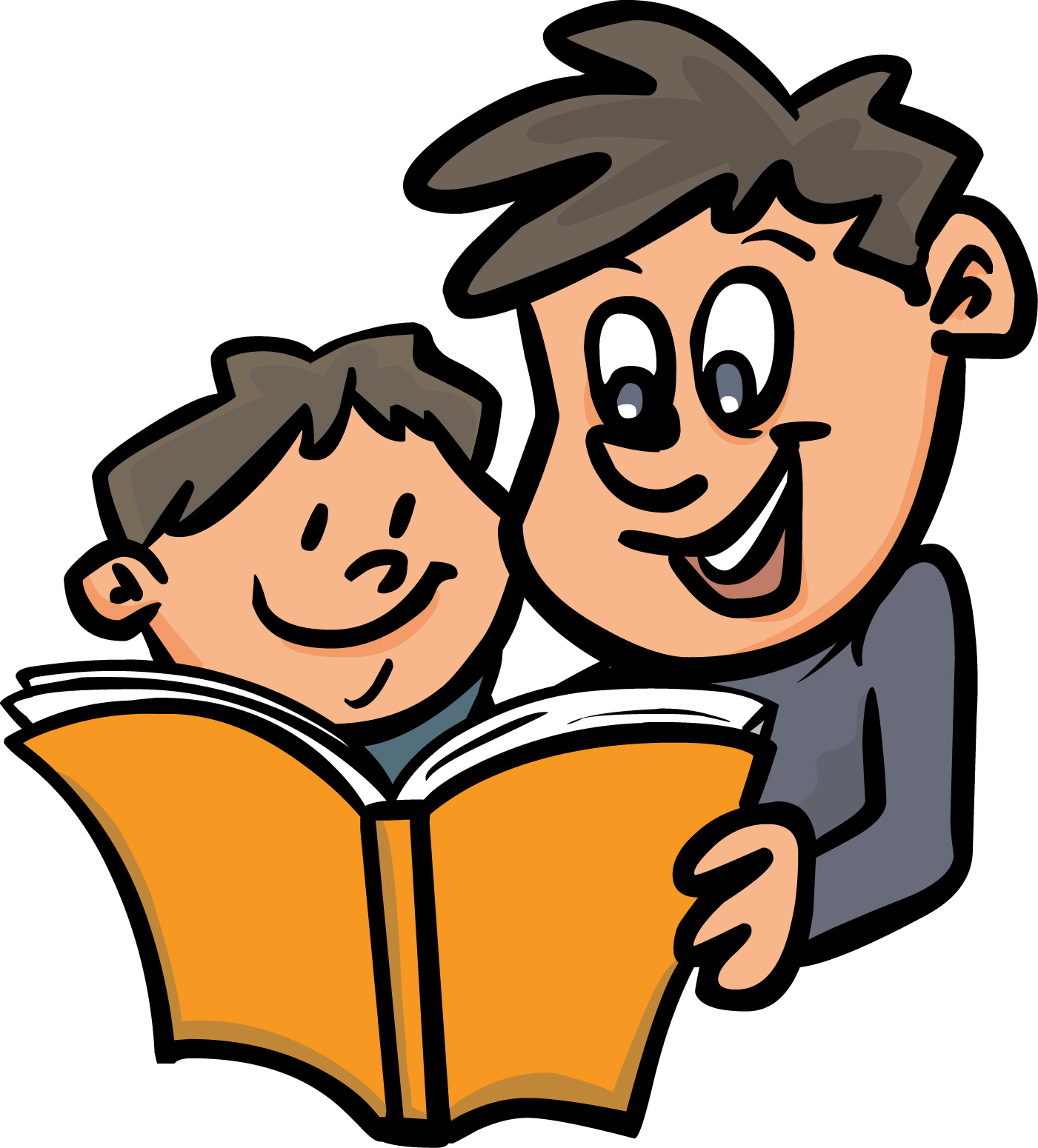 Father clipart read with dad. Parents free download best