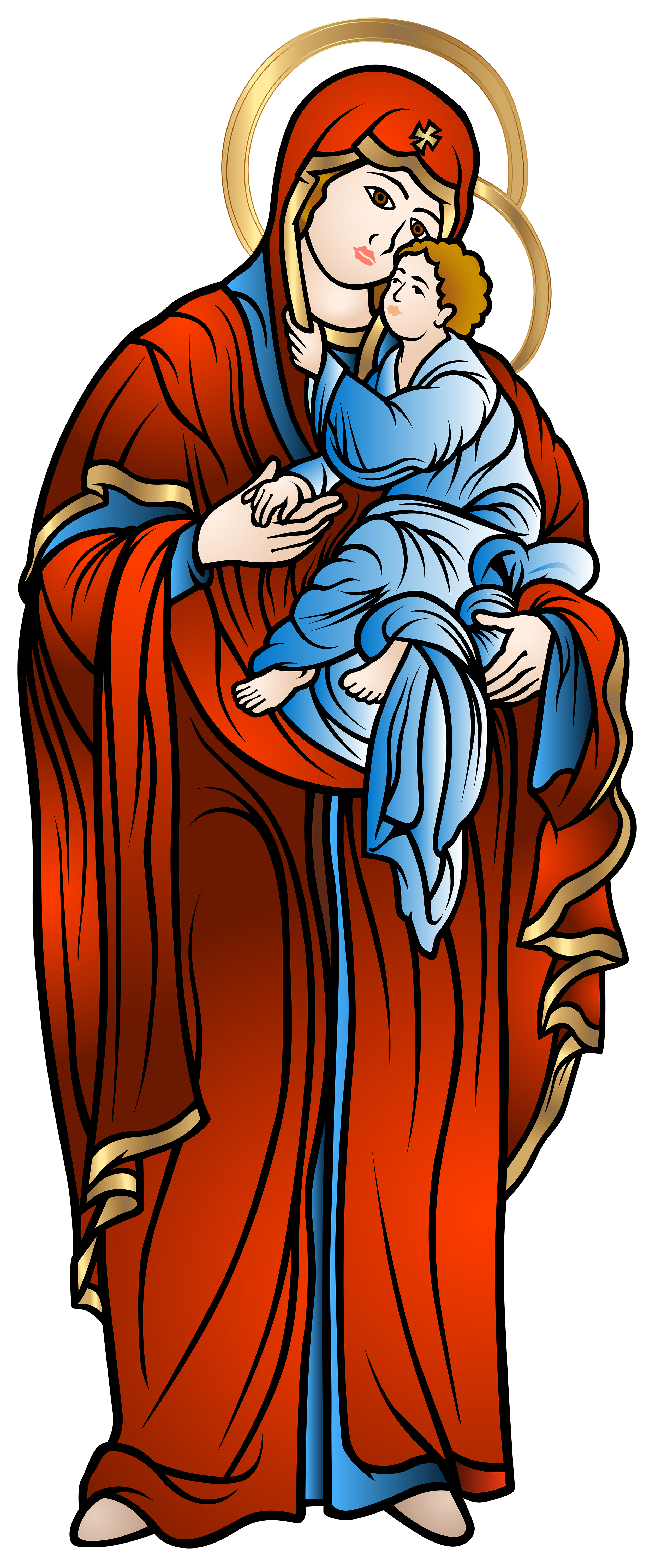 June clipart religious. Blessed virgin mary with