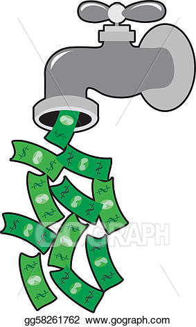 Clip art vector money. Faucet clipart