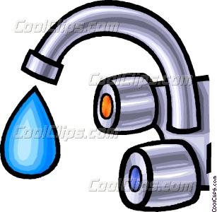 Vector clip art water. Faucet clipart