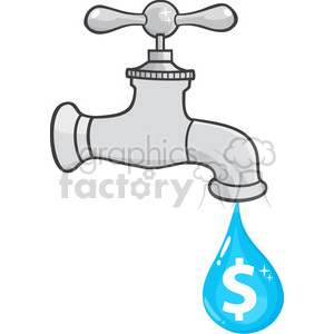 rf illustration water. Faucet clipart dripping faucet