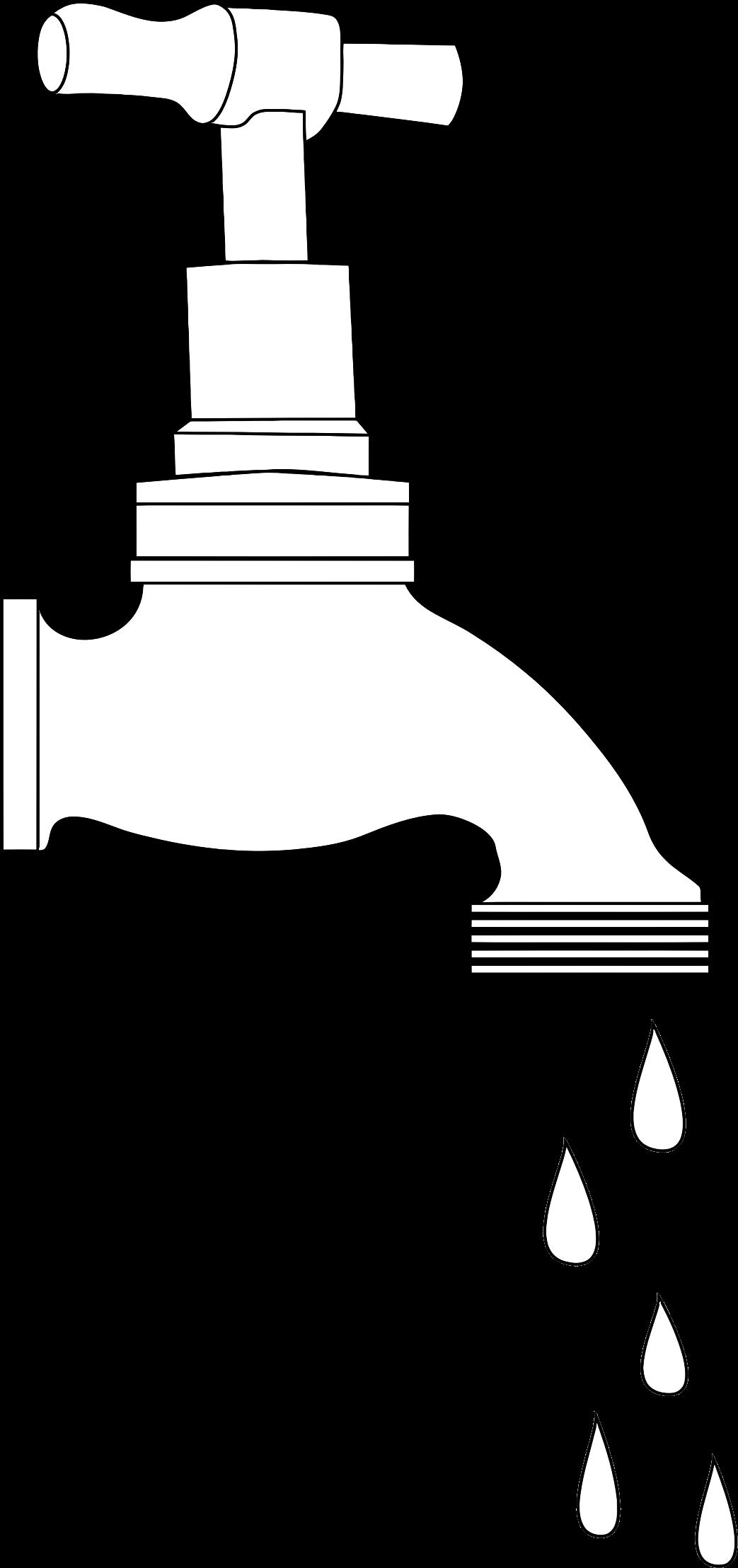 Tap line art big. Faucet clipart dripping faucet