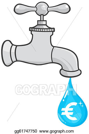 Plumber clipart dripping faucet. Eps illustration water with