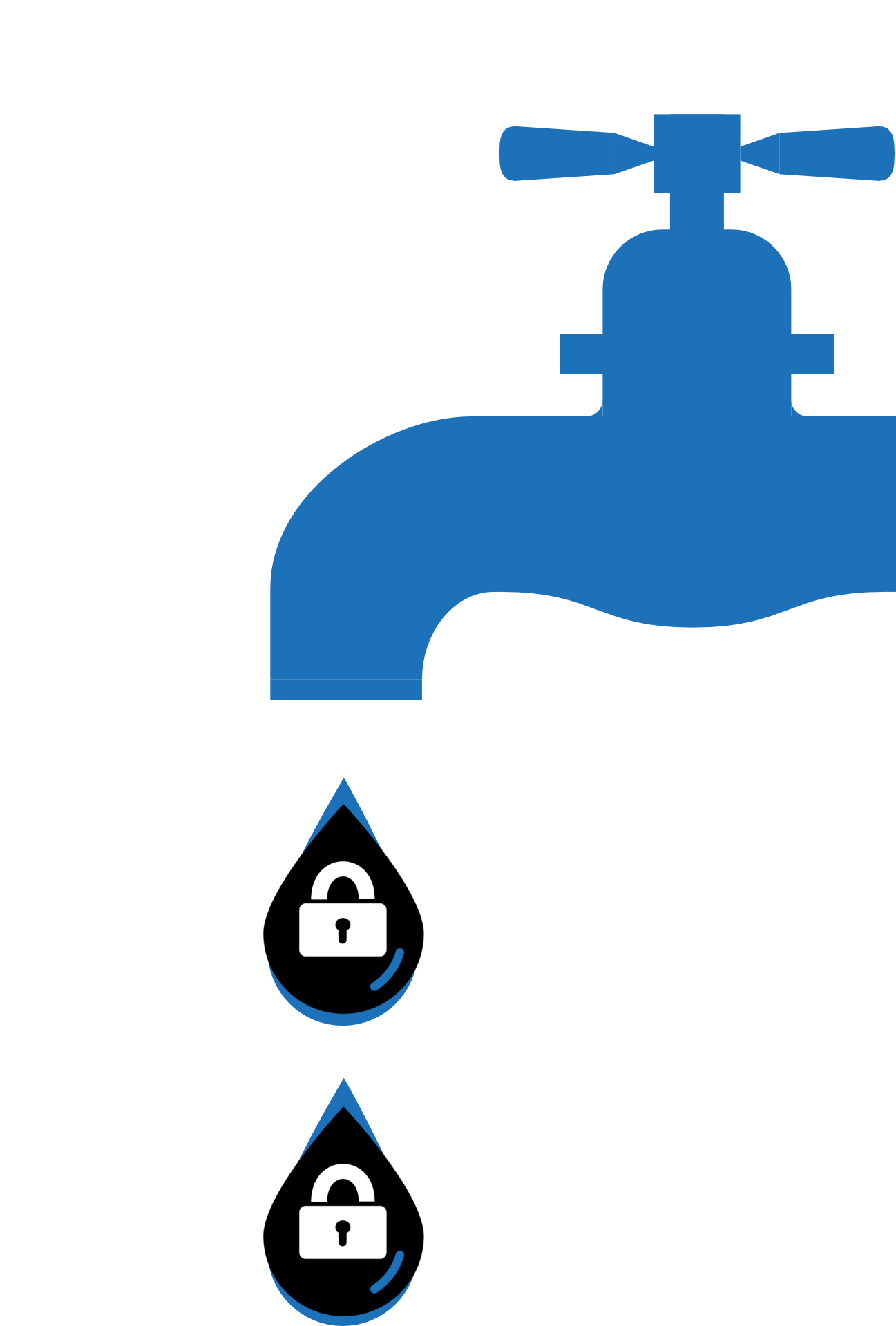 Security drip generic placeholder. Faucet clipart dripping faucet