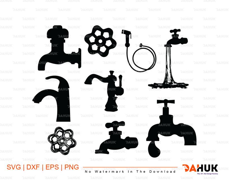 Faucet clipart dripping faucet. Svg cutting files vector