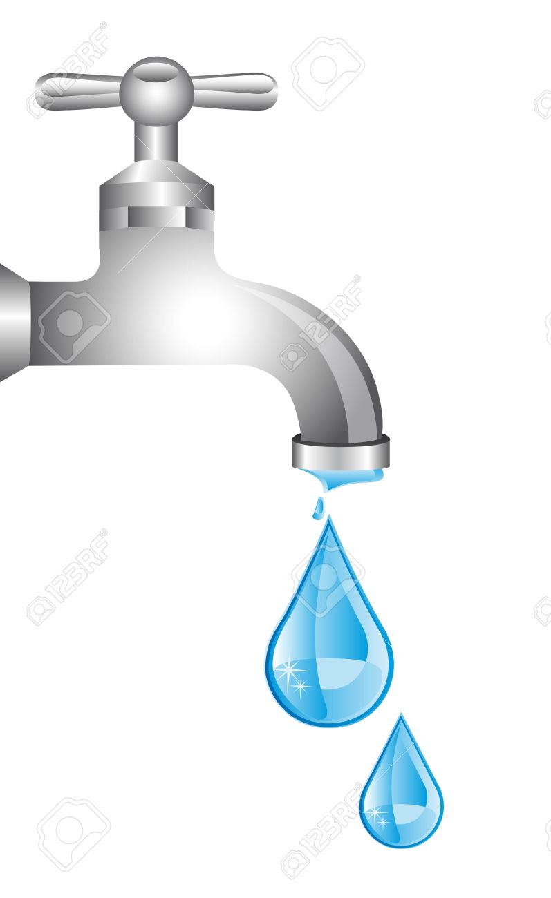 Faucet clipart drop. Of water from portal