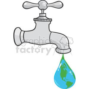 rf illustration leaking. Faucet clipart drop
