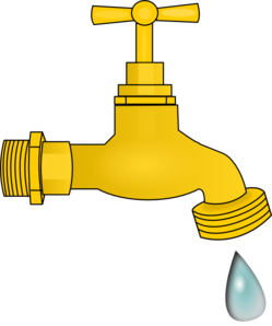 Faucet clipart fauset. Dripping clip art at