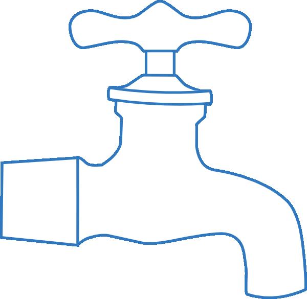 Faucet clipart money. Blue clip art at