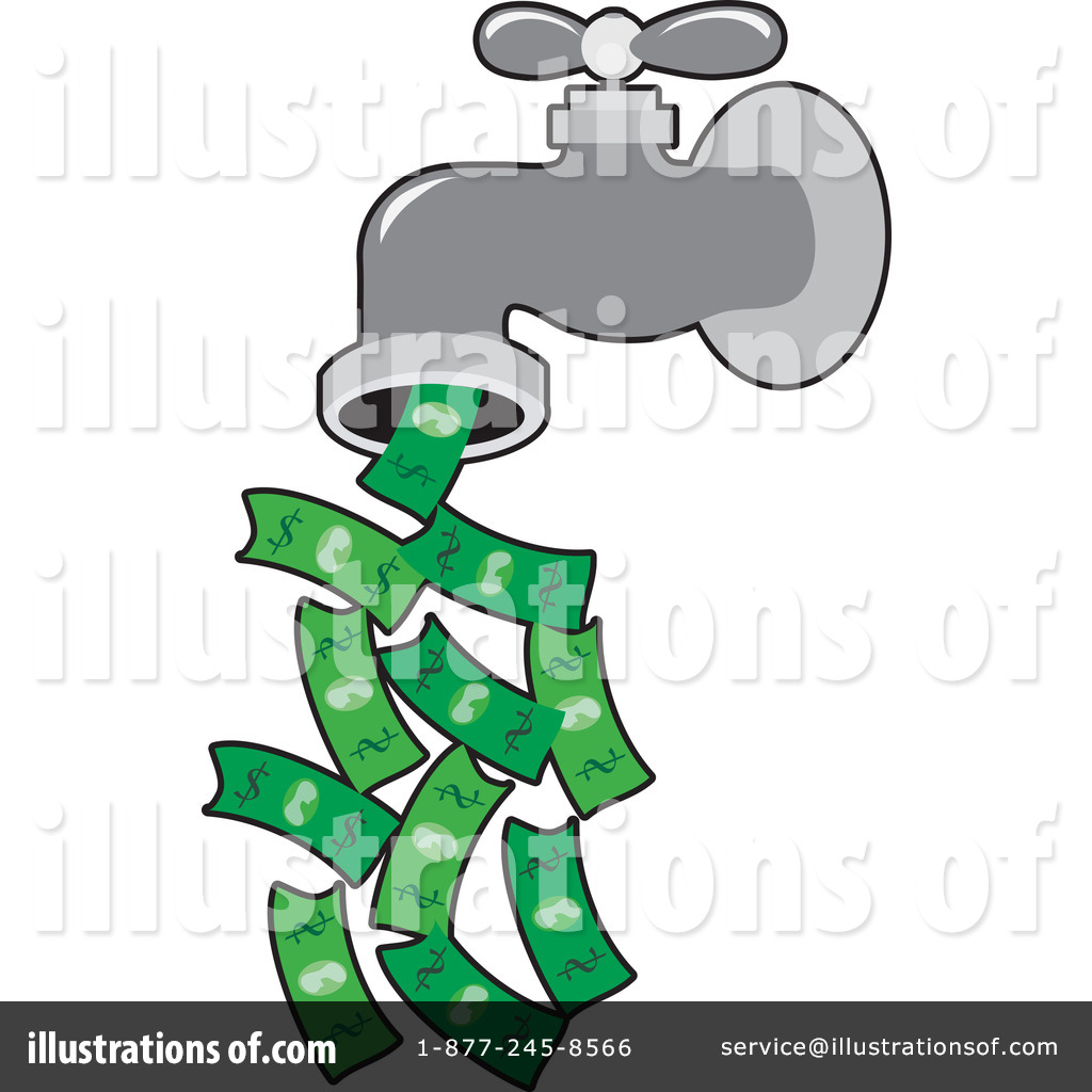Illustration by maria bell. Faucet clipart money
