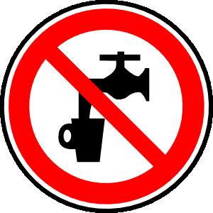 Faucet clipart wasting water. Non potable clip art