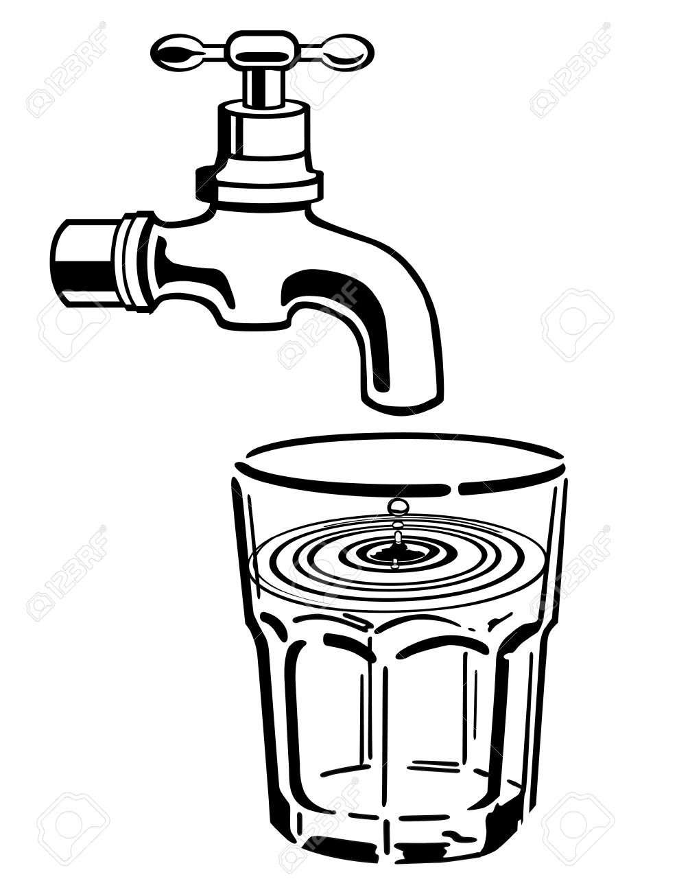 Faucet clipart water drawing. Free download best
