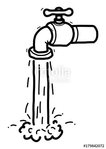 At paintingvalley com explore. Faucet clipart water drawing