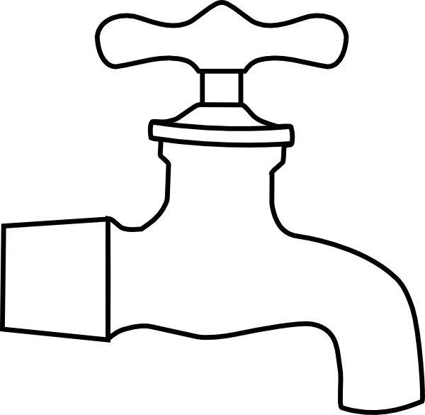 Faucet panda free waterfaucetclipartblackandwhite. Water clipart black and white