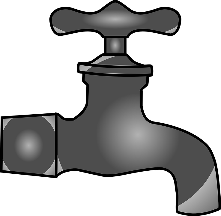 Faucet clipart water droplet. Png black and white