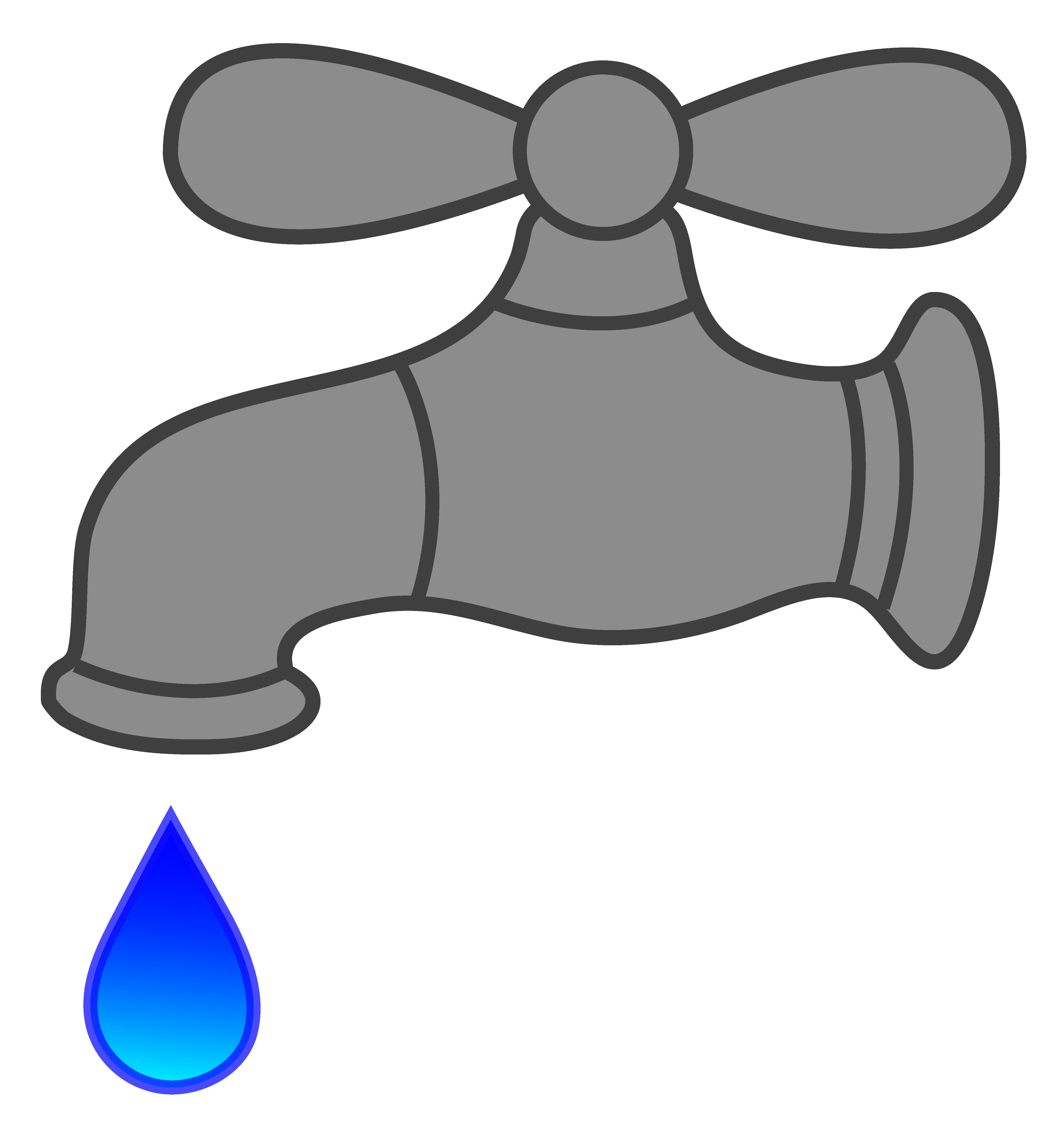 Dripping free image . Faucet clipart water main