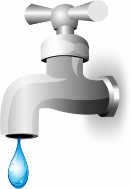Faucet clipart water pipeline. Free vector download for
