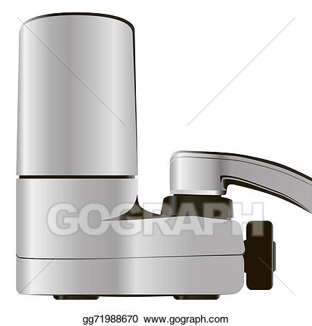 Drawing filter . Faucet clipart water system
