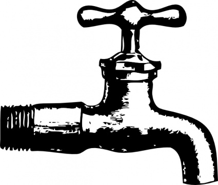Vector clip art library. Faucet clipart waterworks