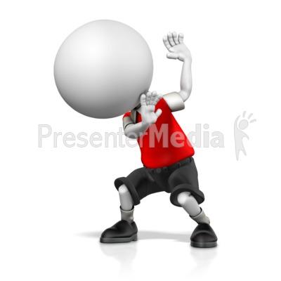 Boy cowering in presentation. Fear clipart