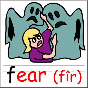 Fear clipart clip art. Basic words ear phonics