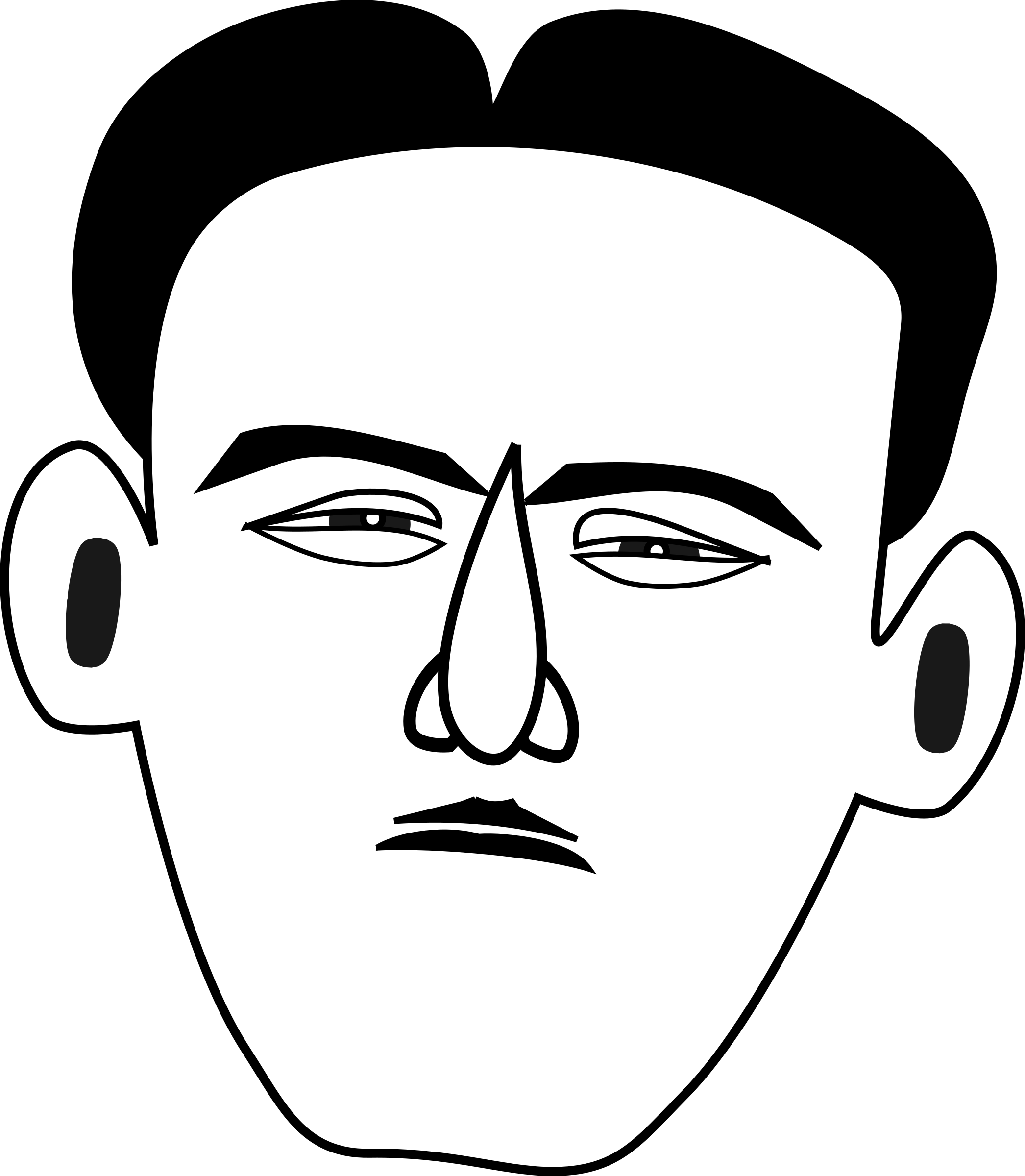 Timorous afraid big image. Fear clipart drawing