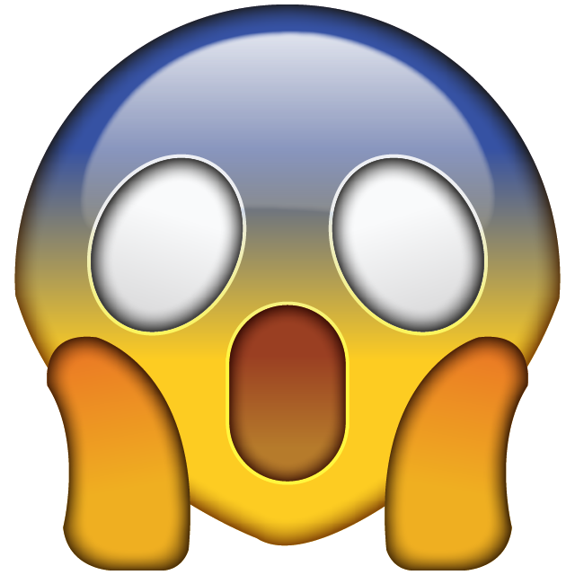 Download omg face emoji. Fear clipart emoticon
