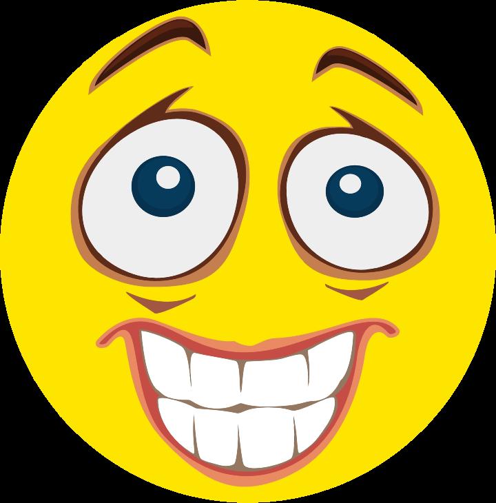 Fear clipart emoticon. Nervous smiley medium image