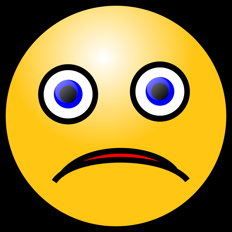 Fear clipart emoticon. Emoticons sad face big