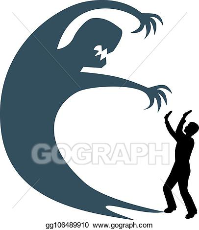 Fear clipart fearful. Vector art man and