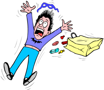Fear clipart frightening. Free pictures of scared