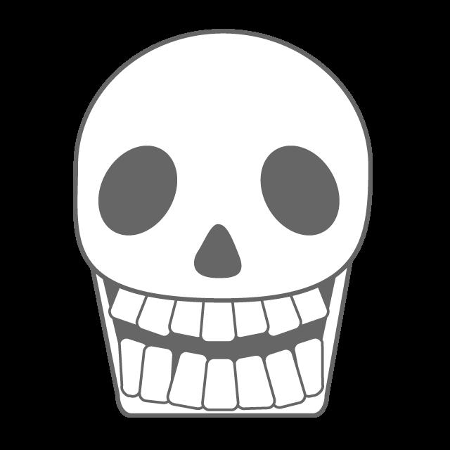 Skull bone mark mask. Fear clipart illustration