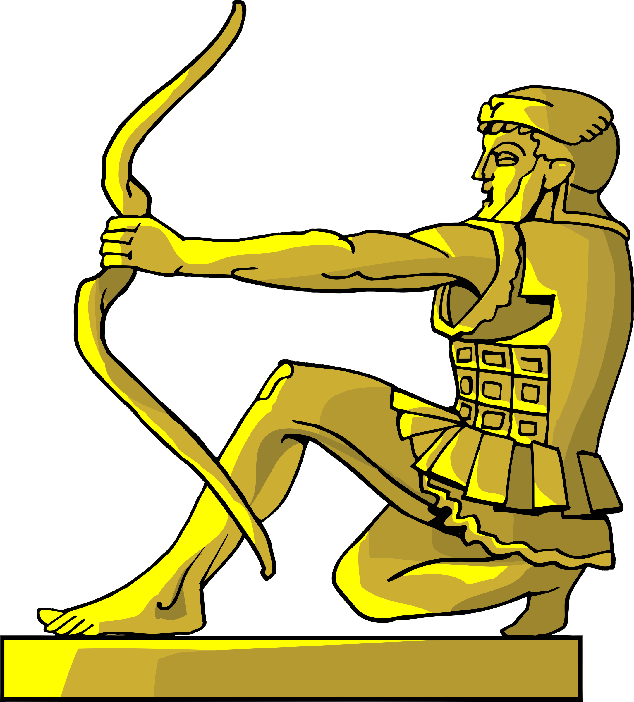 Yoga archer pose for. Want clipart materialism