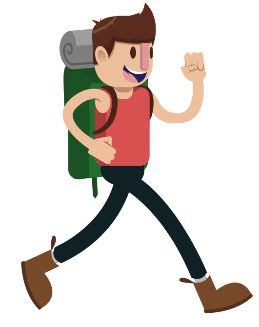 Solo backpacking don t. Fear clipart lonely person