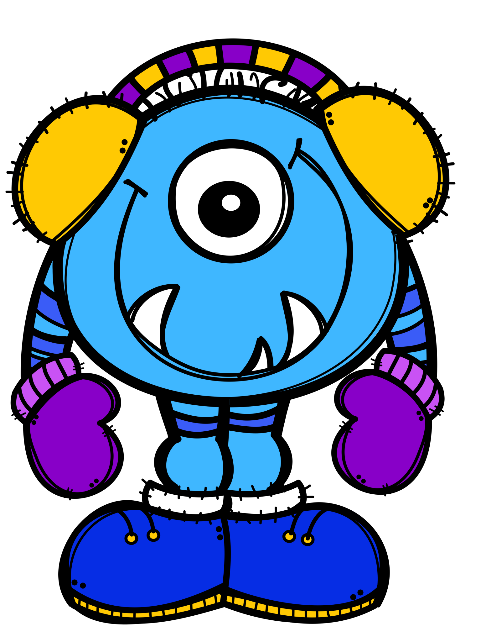 Ch b monsters imprimibles. Fear clipart monster in closet
