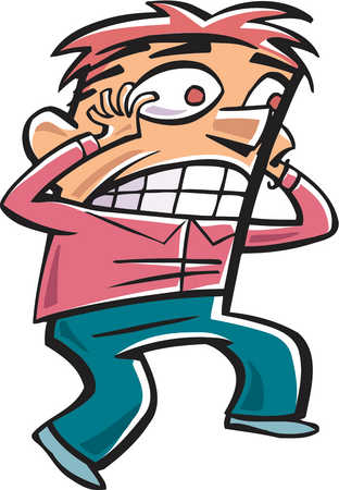 Fear clipart panicked person. Stock illustration drawing of