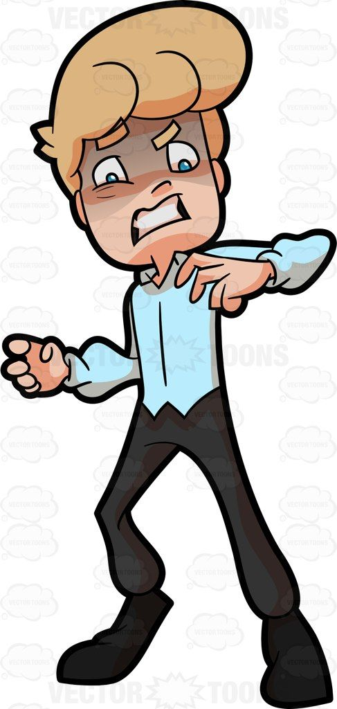 X free clip art. Fear clipart panicked person