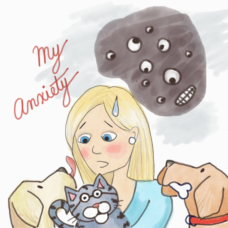 Dear mr anxiety monster. Worry clipart insecure
