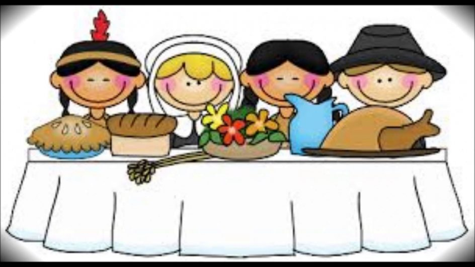 Cute first thanksgiving table. Feast clipart