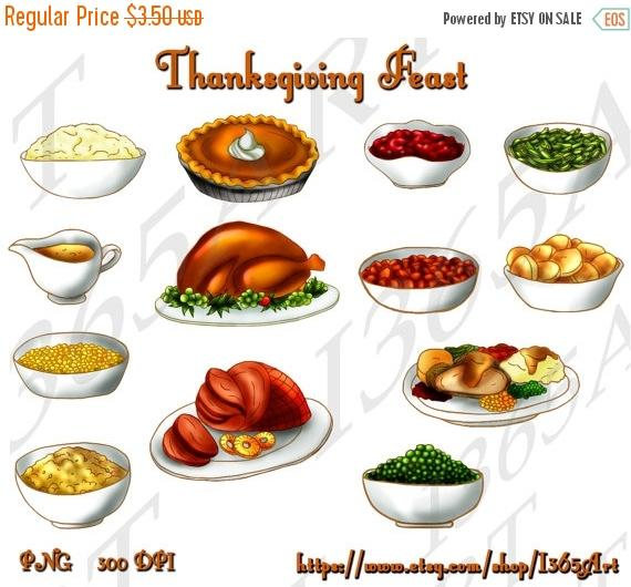off thanksgiving clip. Feast clipart