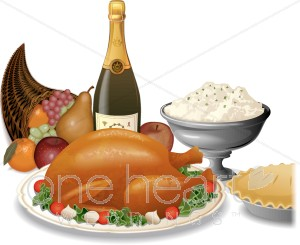 Feast clipart. Wedding food