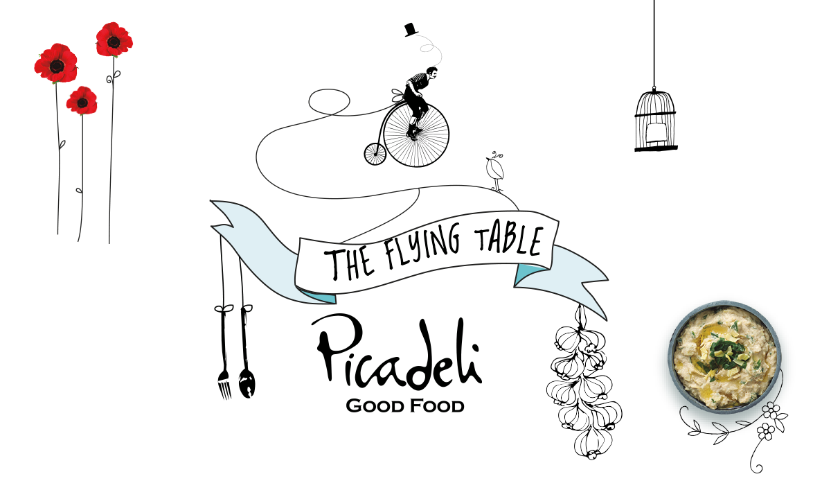 Feast clipart baked chicken. The flying table picadeli