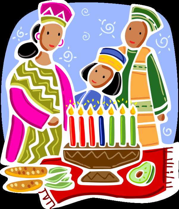 Feast clipart celebration. Celebrating kwanzaa with kinara