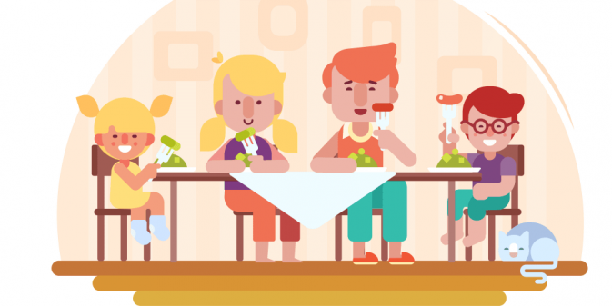 Feast clipart child. Meal family x free