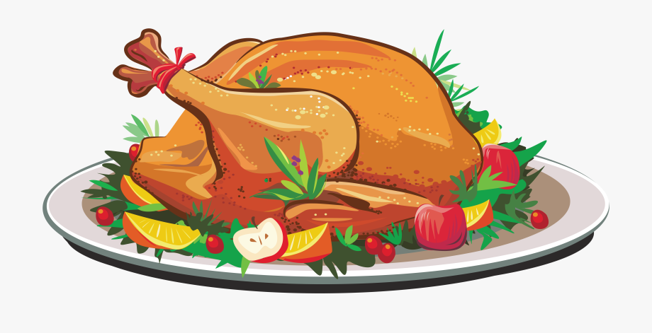 Feast clipart cooked meat. At thanksgiving turkey dinner