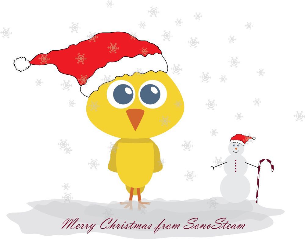 Merry christmas sonosteam happy. Feast clipart cooked meat