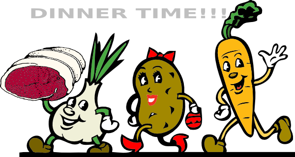 Free dinner time cliparts. Feast clipart dinnertime