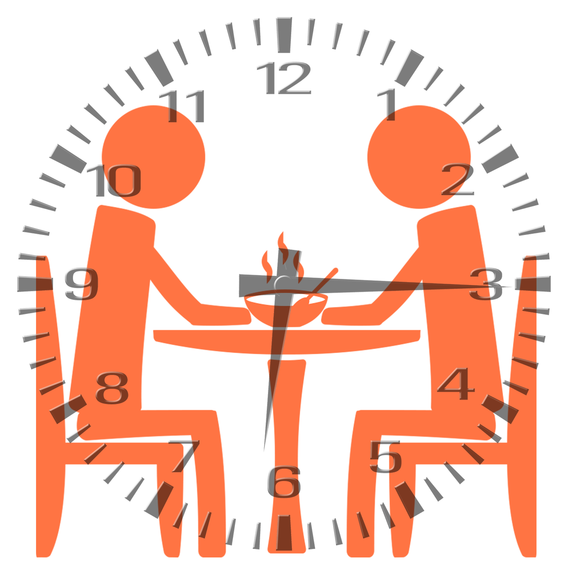 Benefits time restricted feeding. Feast clipart dinnertime